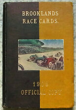BROOKLANDS RACE PROGRAMMES 1908 x9 Bound Volume Prewar Motor Sport Motor Racing