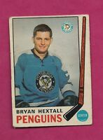 1969-70 OPC # 154 PENGUINS BRYAN HEXTALL  ROOKIE GOOD CARD (INV# 9095)