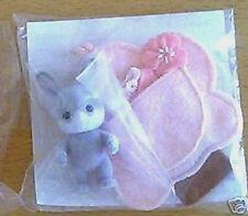 Japan Limited Sylvanian Families Sakura Grey Rabbit Baby Released in 1999 Rare