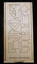 Rhombus 5 Puzzle- The 5 Pieces Make 29 Shapes- Laser engraved box with flip lid