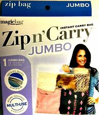 Zip n Carry Storage Bag 1 Jumbo Heavy Duty Zipper Magicbag 24 x 20 inch