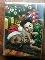 "African American RETIRED holiday 12 cards 14 envelopes 2012 ""Sleeping Xmas Pals"""