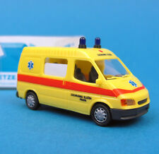 Rietze H0 50625 FORD Transit B MHD Ambulance Prag CZ KTW RTW OVP HO 1:87 box