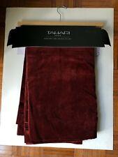 "NEW TAHARI HOME Luxurious Velvet Single Curtain Panel Deep Red  (50 x 84"")"