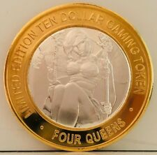"FOUR QUEENS SILVER STRIKE COIN TOKEN "" Goddess Of Fall Collectible """