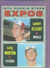 1970 TOPPS # 109 EXPOS ROOKIE STARS JESTADT & MORTON  EX