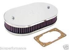 56-9005 Filtro aria K&N Custom Kit Per Singolo & Doppio Barile WEBER CARBURATORI