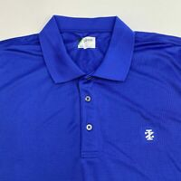 Izod Golf Polo Shirt Men's 2XL XXL Short Sleeve Blue Logo Embroidered Polyester