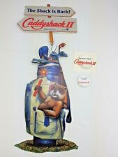 Caddyshack II Movie Promo Lot - Hanging Gopher Golf Bag Signs - Pin - Sticker