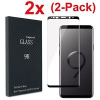 2Pack For Samsung Galaxy S8/9 Note9 Full Cover Tempered Glass Screen Protector B