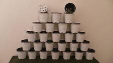 """PK (50) PLASTICA circa 10.5 cm 4 """"Opaco Bianco plant pot Nuovo"""