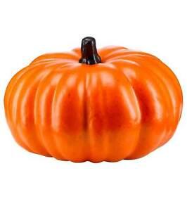 Pumpkin Decoration Large Halloween Party 27cm Bright Orange