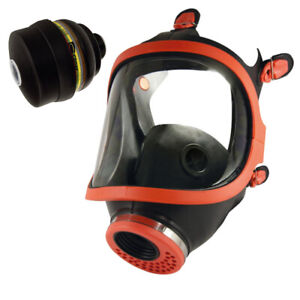 Full Face Mask Natural Rubber with Filter Respirator A2 P3 Abek APEKP3