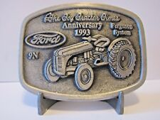 Ford 9N Tractor Pewter Belt Buckle 1993 The Toy Tractor Times Anniversary Ltd Ed
