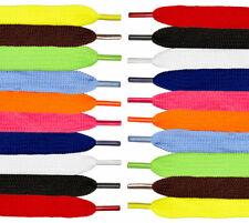 Lacets Chaussures de Sport Plats et Larges 120 x 0.8 cm - Couleur Au choix