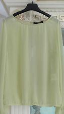 RINASCIMENTO Damen Shirt Blusenshirt Top L 38 40 Polyester Gelb
