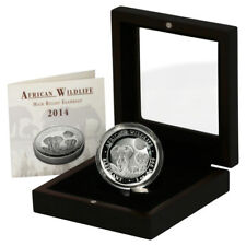 2014 Somalia Elephant 100 Shilling 1oz High-relief Proof Silver Coin