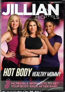 JILLIAN MICHAELS in HOT BODY HEALTHY MOMMY on a DVD of POSTNATAL WORKOUT & VIDEO