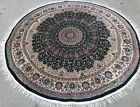 """ROUND GREEN BACKGROUND COLOR RUG 6'2"""" X 6'2"""""""