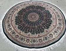 Round Green Background Color Rug 6'2� X 6'2�