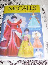 McCalls 6629 GIrl's Princess Renaissance Gowns Size 3-4-5-6-7-8 NEW UNCUT
