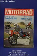 Motorrad 3/78 Yamaha SR 500 XS 1100 Honda CX 500