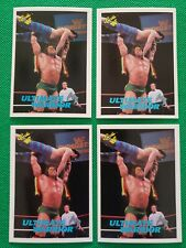 Ultimate Warrior (4) Wrestling Card LOT 1990 Classic WWF Rookie Card #43 RC WWE