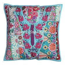 Decorative Abstract Cushions Cotton Turquoise Indian Pillow Covers 1 PCS