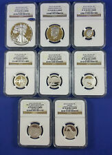 2014 Limited Edition Silver Proof Set NGC PF70-Complete 8 Coin Set-Box and COA