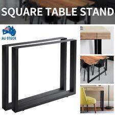 Heavy Duty 2pcs Steel Legs Industrial Design Square Shape Bench Wide Table Legs