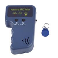 125KHz EM4100 Handheld RFID ID Card Copier Reader/Writer Duplicator with Keyfob