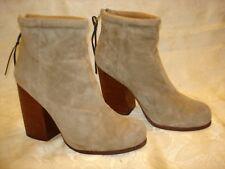 Women's Jeffrey Campbell RUMBLE Suede Zip-Up Heels Boots Size 39 EUR