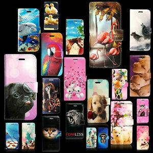 ANIMALS PRINT BOOK WALLET FLIP PHONE CASE COVER FOR APPLE IPHONE 6 PLUS 7 8 MORE