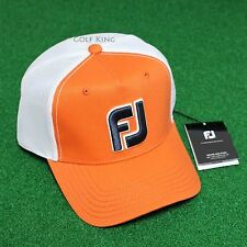 ⛳ Footjoy FJ Golf Mesh Logo Cap Orange Color Authentic FJHW1603 Hat Headwear