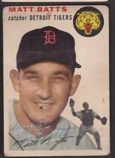 1954 TOPPS SIGNED CARD #88 MATT BATTS TIGERS DEC