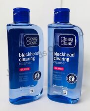 2 x Clean and Clear Blackhead Clearing Cleanser (200ml x 2)