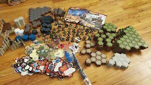Heroscape Huge Lot Figures, Terrain, Hex Tiles, Castle Pieces + Marvel