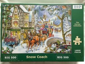 Brand New House of Puzzles BIG500 Large Piece Jigsaw Puzzle - SNOW COACH