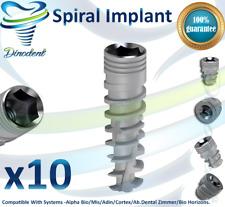 10X Dental Titanium Spiral Implant Sterile Sterilized For Internal Hex Lab