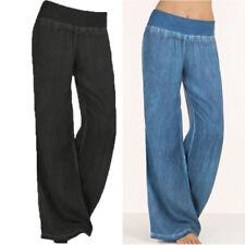 Women's Yoga Baggy Pants High Waist Wide Leg Casual Sport Dance Cotton Trousers