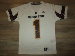 ASU Sun Devils Arizona State #1 Football Team Adidas Jersey M Medium mens