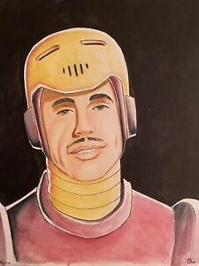 Tony Stark Iron Man Art by Barry Blair 8x10