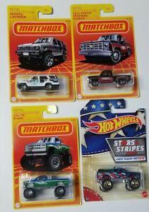 Matchbox Retro Series 2 TOYOTA 4RUNNER CHEVY PICK UP Hot wheels BLAZER LOT