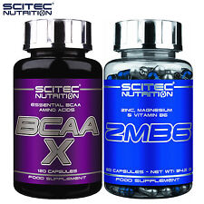 BCAA X 120Caps + ZMB6 60Caps Branched Chain Amino Acids ZMA Testosterone Booster