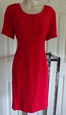 Petite Sophisticate red pure silk sheath dress 10P