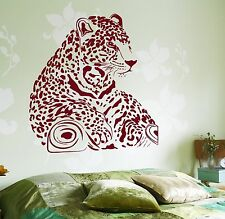 Wall Vinyl Decal Leopard Cheetah Tiger Hunter Jungle z3664