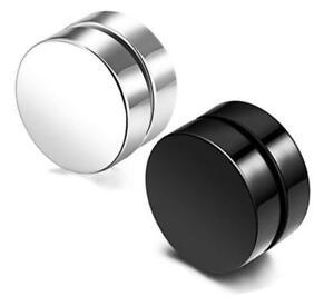 Unisex Non-Piercing Magnetic Magnet Ear Stud Fake Earrings Men Women 6-10mm New