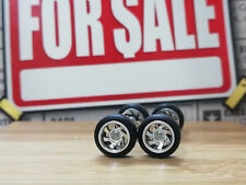 Hot Wheels 1/64 Rubber Wheels Tires Real Riders > 7FRR > Chrome > 10mm