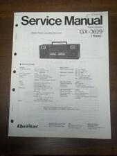 Quasar Service Manual for GX3629 Radio Cassette Recorder/Boombox~Original