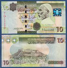 LIBYEN / LIBYA 10 Dinars (2009)  UNC  P.73
